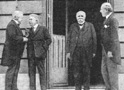 Lloyd George, Orlando Vittorio, Georges Clemenceau and Woodrow Wilson