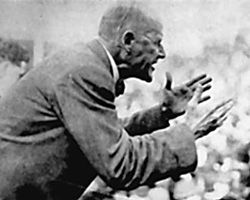Eugene V. Debs speaking in 1918.