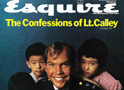 A smiling U.S. Lieutenant William Calley and Vietnamese children on the cover of Esquire magazine