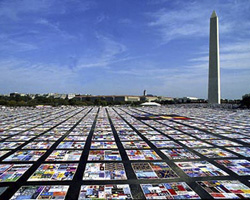 The AIDS quilt in Washington DC