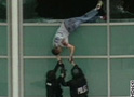Patrick Ireland, a victum of the Columbine attack, escapes from the school